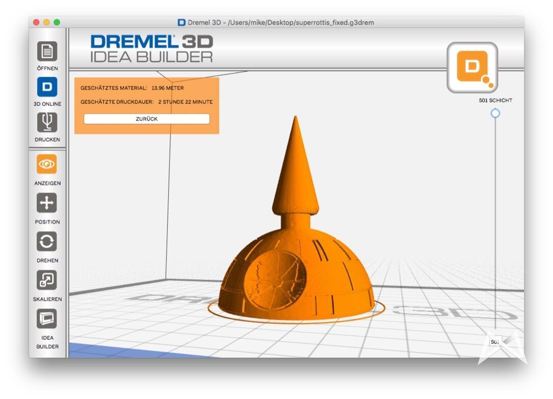 Dremel 3D korrigierte STL