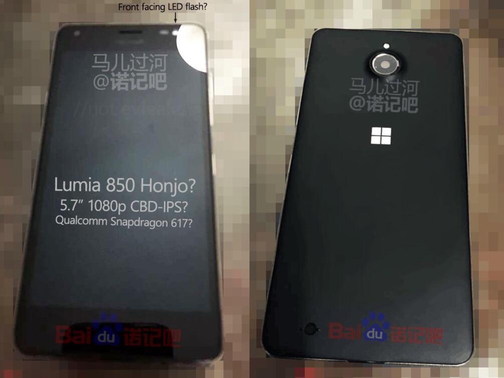 Lumia 850 Prototyp