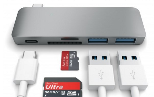 Satechi Type-C USB 3.0 3 in 1 Combo Hub for New MacBook 12-Inch (with USB -C Charging Port) (Space Grey) - Hubs - Connectivity - Computer - Google Chrome 2016-01-08 15.40.17
