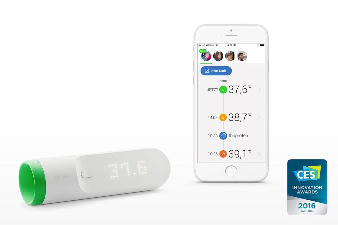 Withings Thermo App