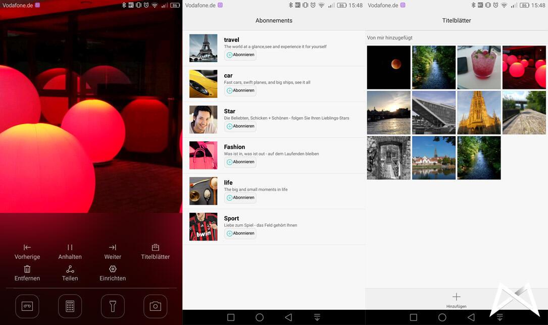 Huawei Mate 8 Sperrbildschirm