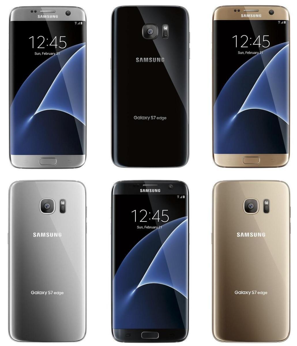 Samsung Galaxy S7 (Edge) in gold, schwarz und silber auf neuem Renderbild zu sehen