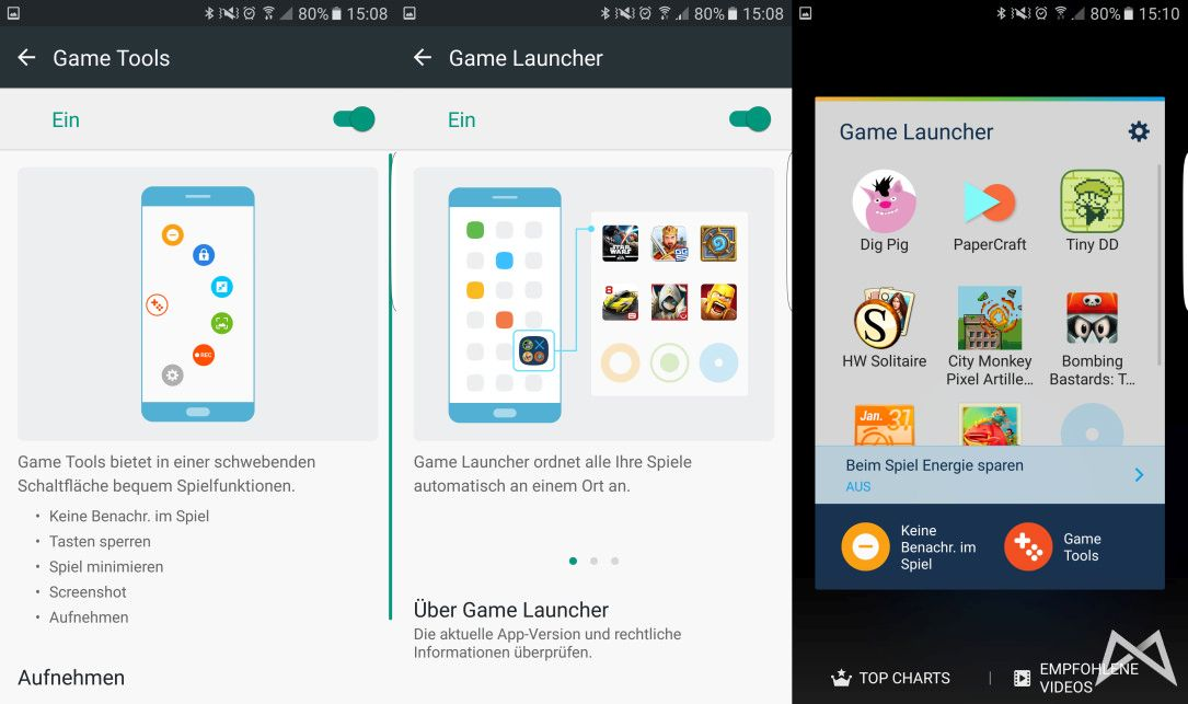 Game Lauuncher Game Tools Samsung Galaxy S7 edge mobiFlip