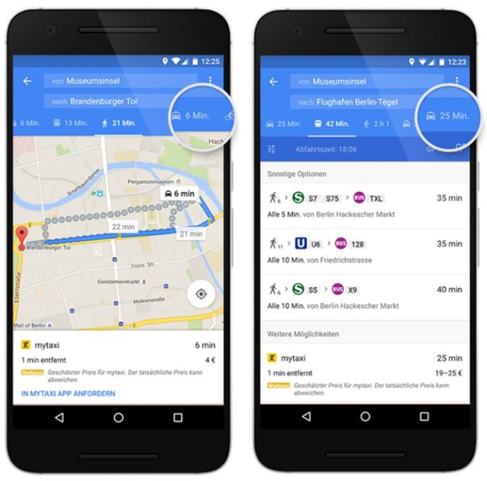 maps google taxi mytaxi
