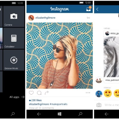 facebook apps windows instagram