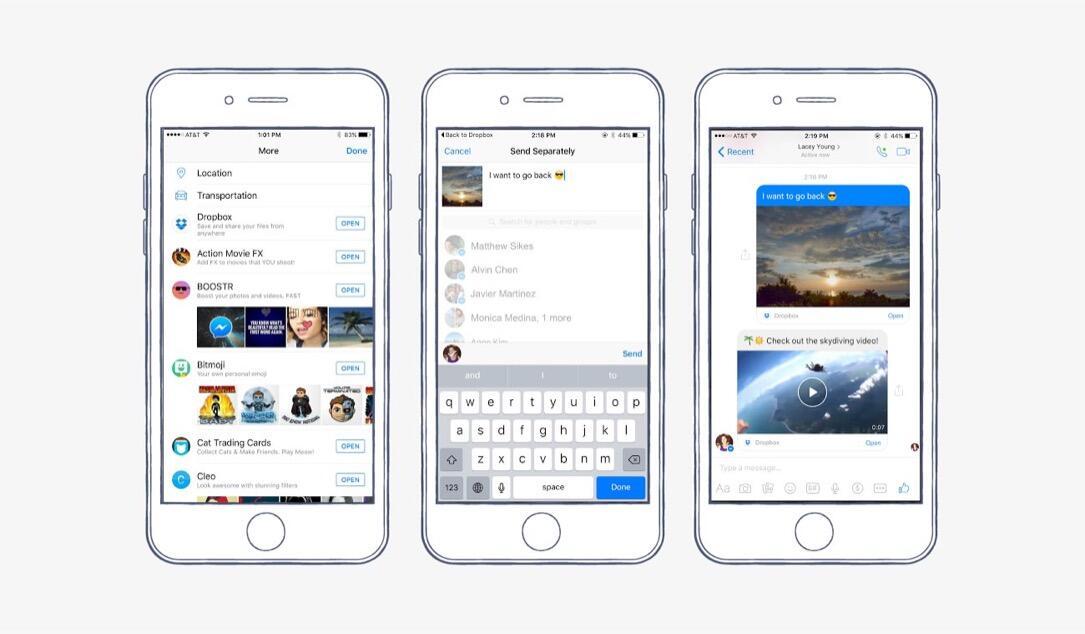 Facebook Messenger bekommt Dropbox-Integration