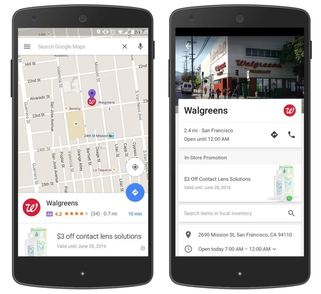 Google Maps Werbung