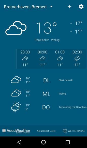 Moto G4 Wetter