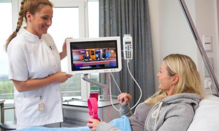 Nur zur redaktionellen Verwendung in internen Medien  in direktem Zusammenhang mit der Deutschen Telekom AG  Keine werbliche Nutzung  Persoenlichkeitsrechte mit den Abgebildeten nicht abgeklaert  Hospital Entertain