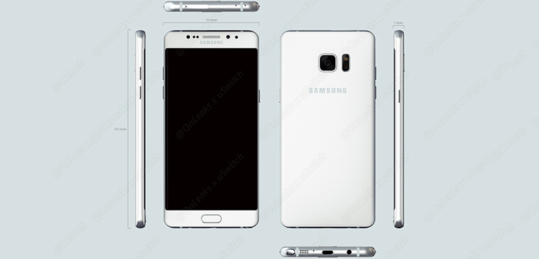 Galaxy Note 7 Render2