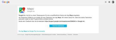 Google Maps Beta Channel Tester 1