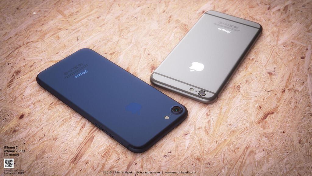 iPhone 7 Dunkelblau Konzept