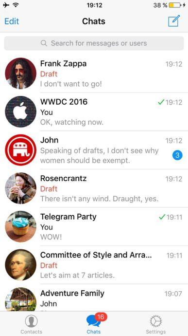 telegram entwurf
