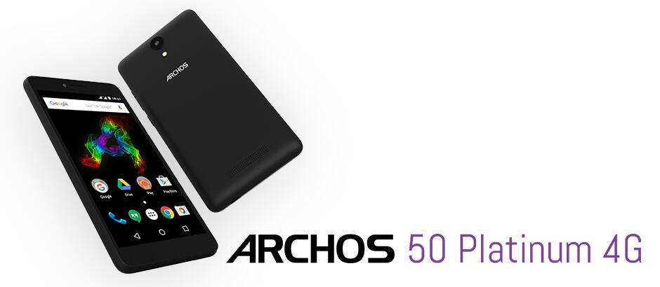 Archos 50 Platinum 4G: Einsteiger-Smartphone mit Android 6.0 Marshmallow vorgestellt