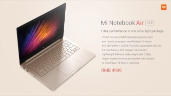 Mi notebook air 4