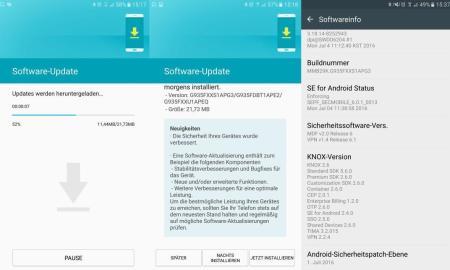 Samsung Galaxy S7 edge Juli Update