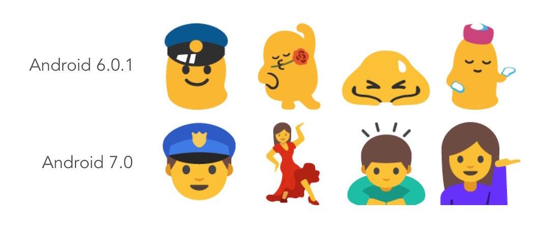 Android 7.0 Emoji Neu