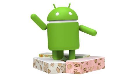 Android 7.0 Nougat Logo Header