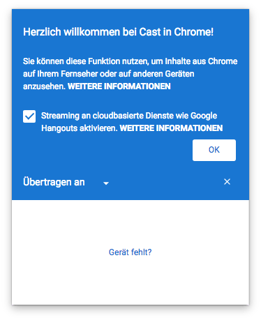google cast chrome