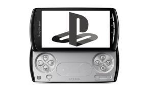 Sony Xperia Play PlayStation Logo Mockup Header