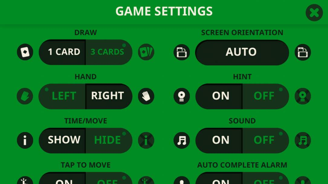 solitaire-settings