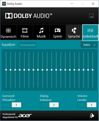 Dolby Audio individuell