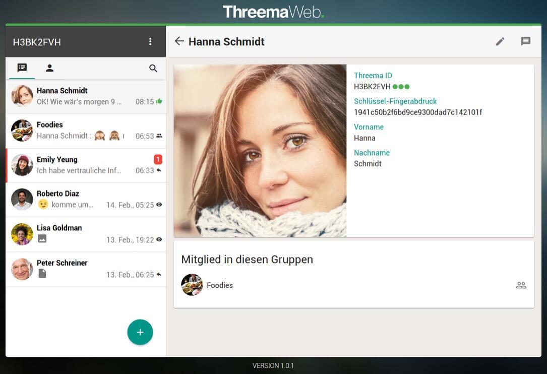 Threema Web nun auch am Windows-Rechner verfügbar