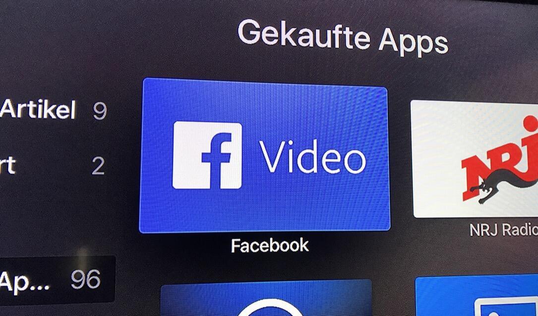 Facebook Video: App für Apple TV ist da