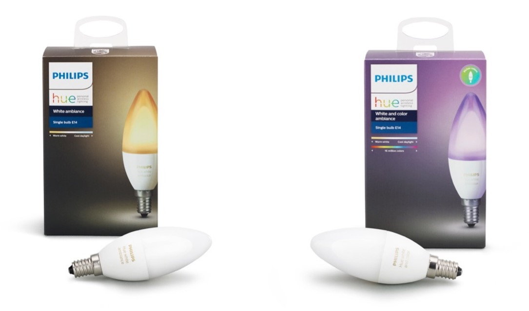 philips hue bekommt e14 lampen. Black Bedroom Furniture Sets. Home Design Ideas