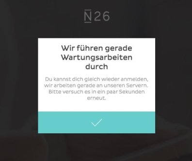 n26 login web fail