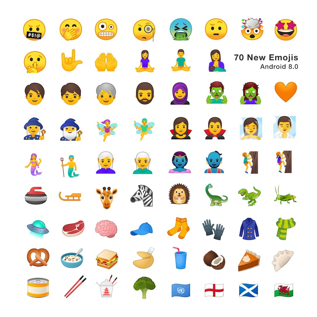 Android 8 Oreo Emojipedia 70 New Emojis