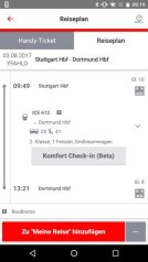 Db Vertrieb Gmbh Db Navigator Android Komfort Check In Start Ticket Stand 08 2017