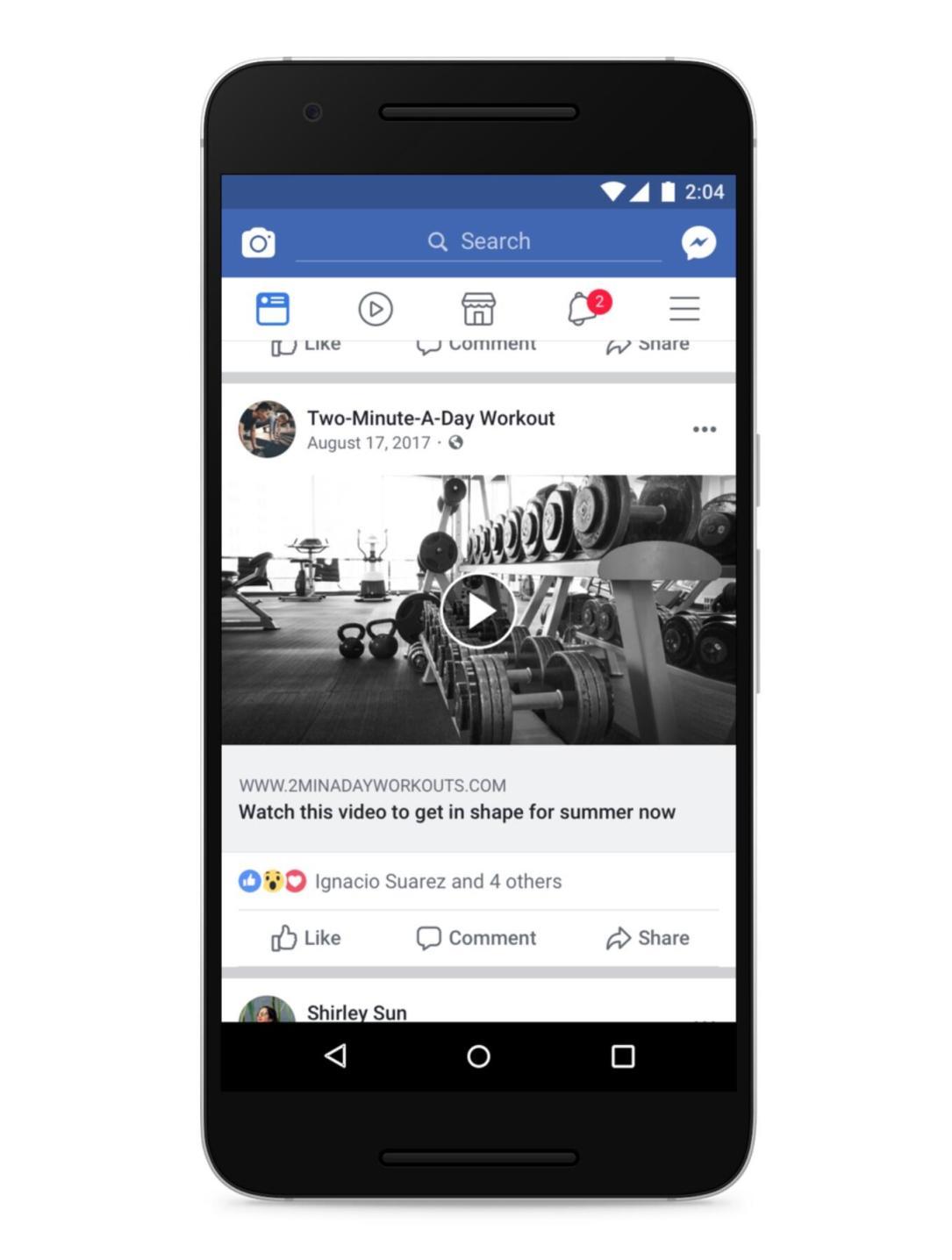 Facebook Fake Play Button