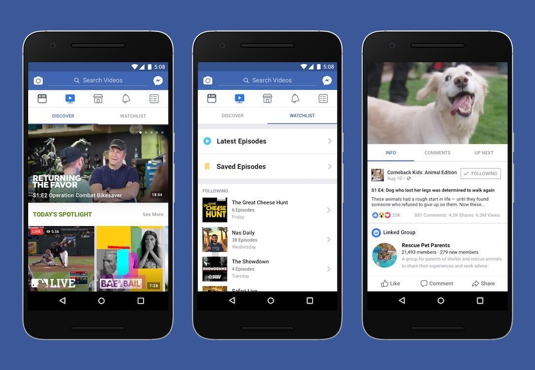 Facebook Watch Header