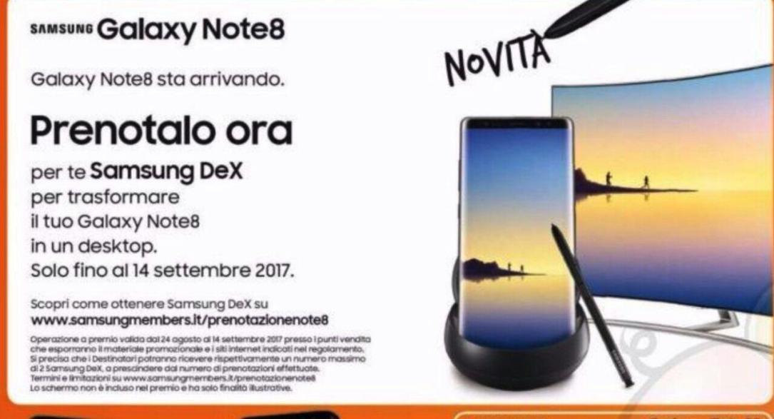 Galaxy Note 8 Italien