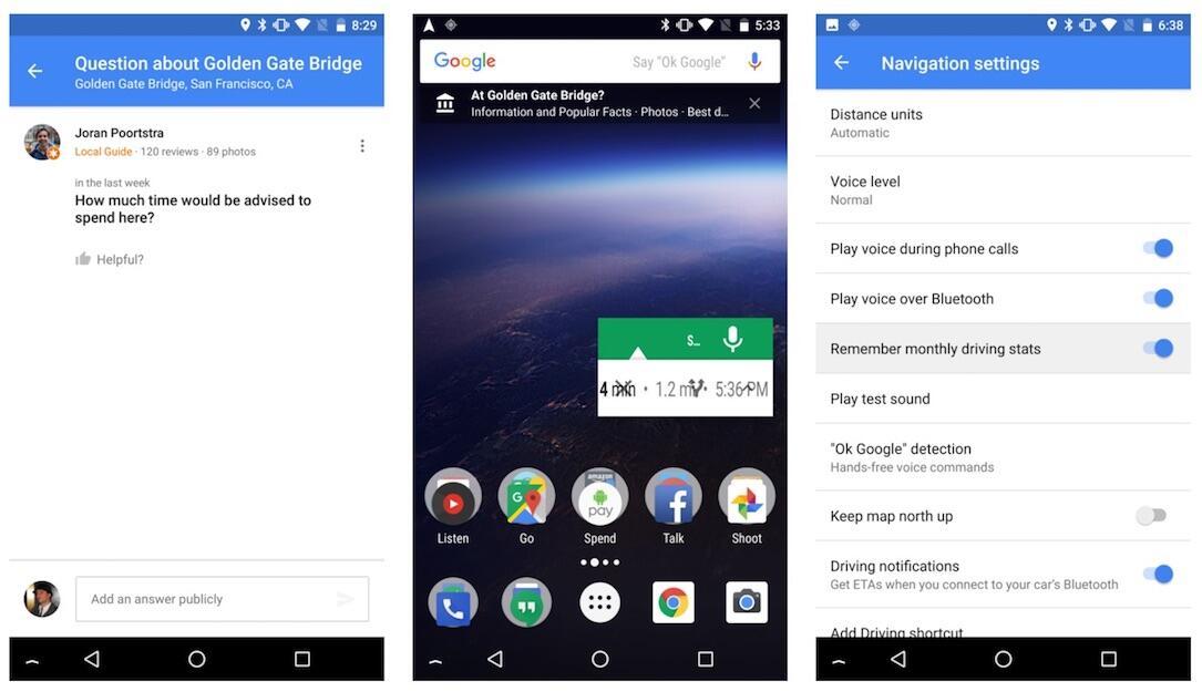 Google Maps Beta Screens
