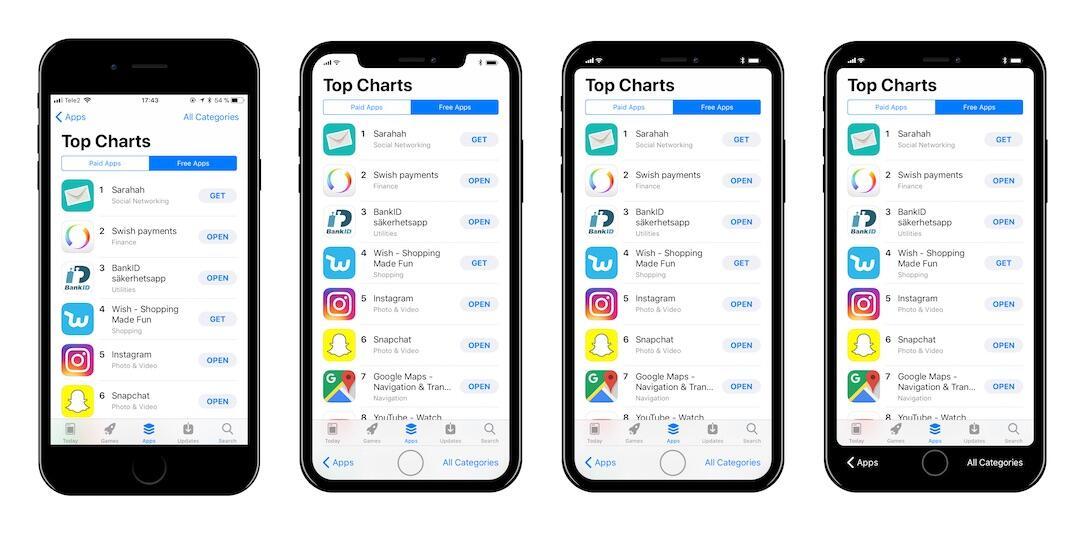 Iphone 8 Ios Konzept