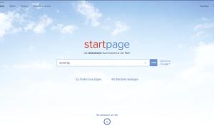 Screenshot Startpage