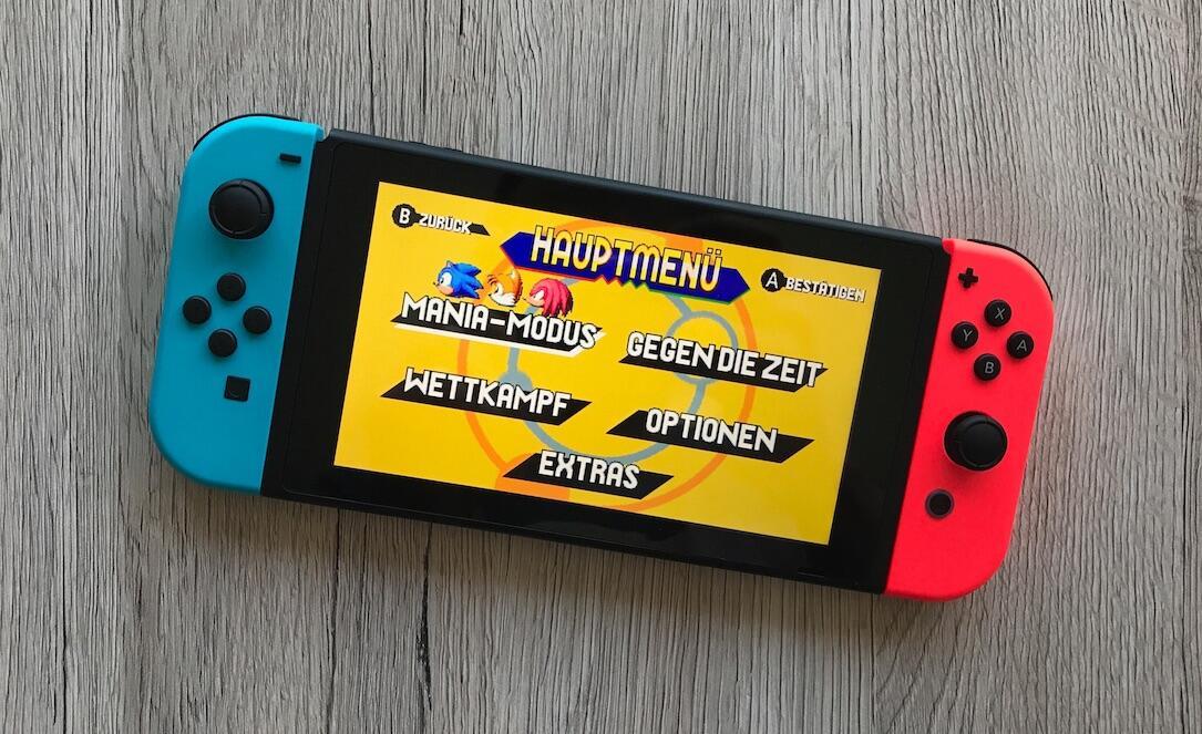 Sonic Mania Switch