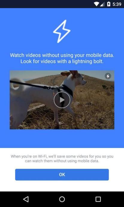 Facebook Instant Videos Screenshot