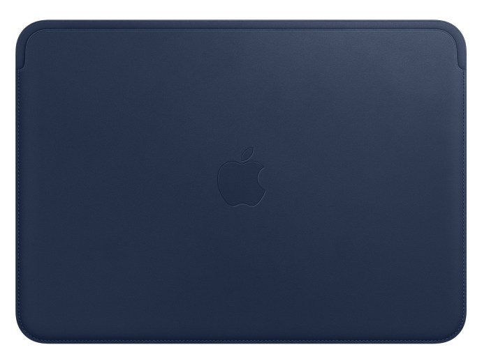 Apple Macbook Leder Case Blau