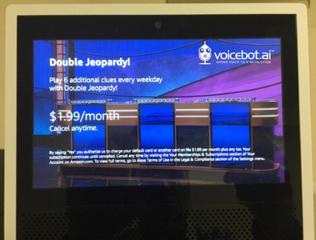 Jeopardy Amazon Alexa Skill Monetization Subscription Voicebot 2