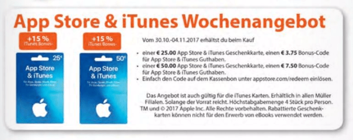 Müller Itunes Aktion