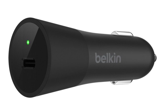 Belkin Usb C Car Charger Side Front Face