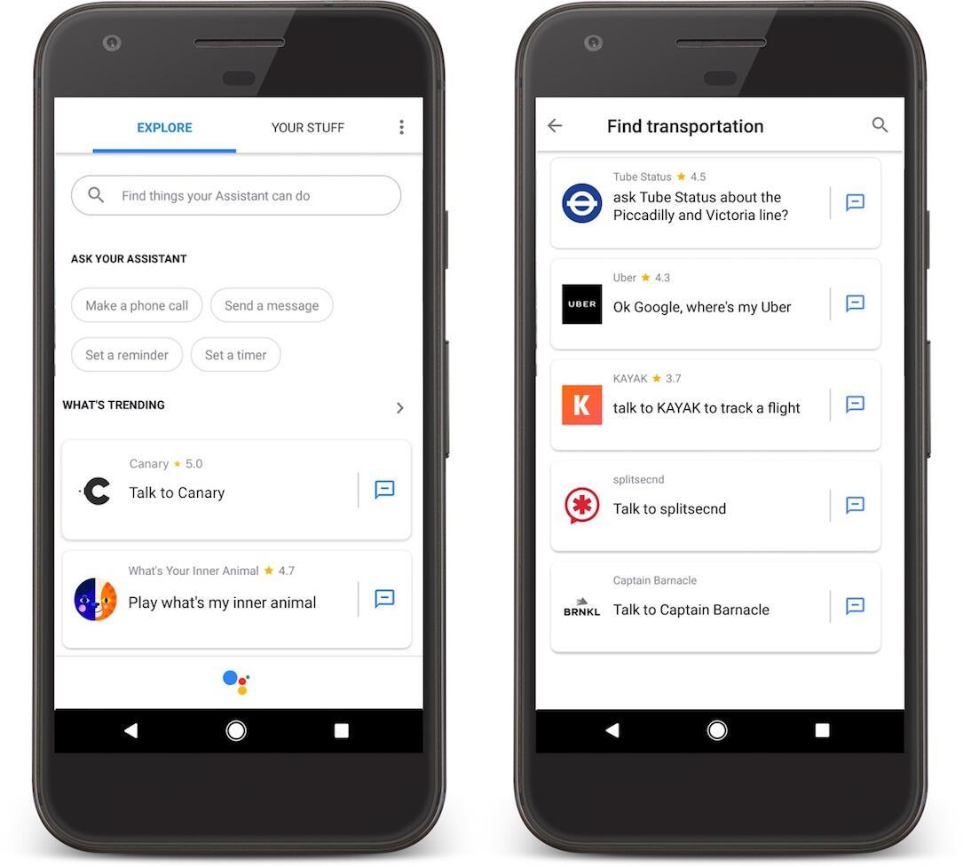 Google Assistant Sub Kategorien