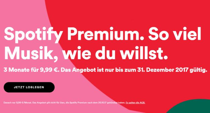 Spotfy Premium Bestandskunden Aktion