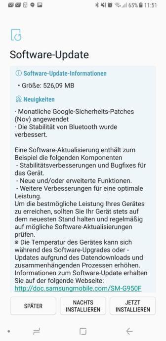 Galaxy S8 Firmware Update