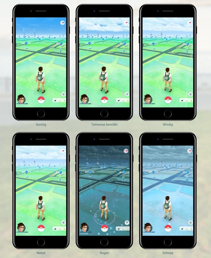 Pokemon Go Wetter