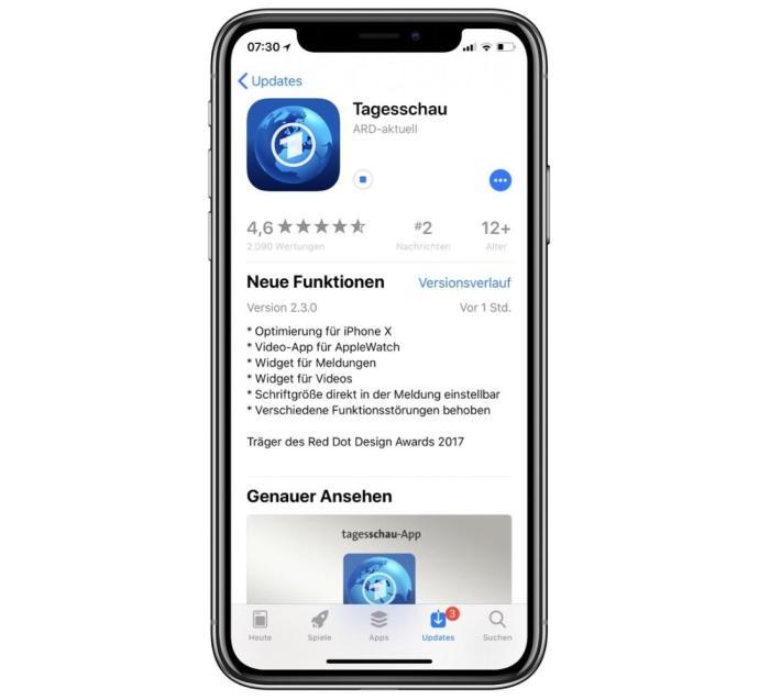Tagesschau App Update
