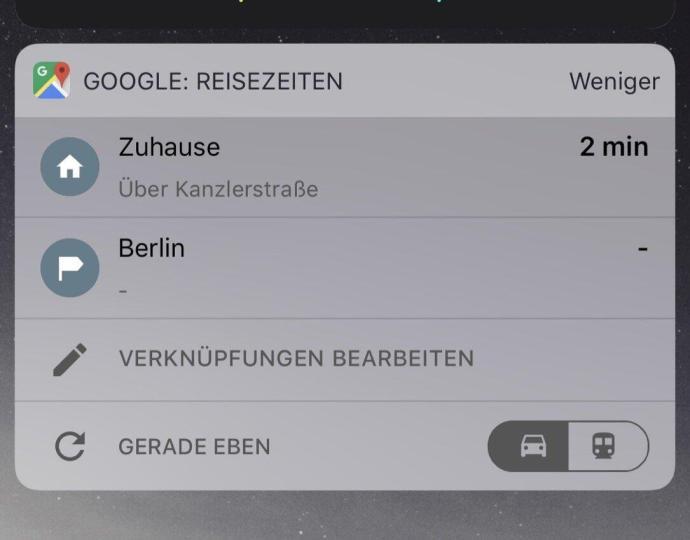 Google Maps Reisezeiten Ios